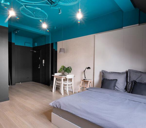Wrocław - aparthotel Bike'up - pokój Turquoise