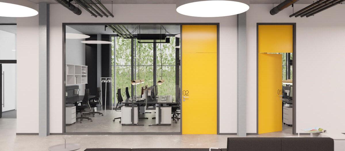 Piła - biurowiec Colours Factory/wnętrza